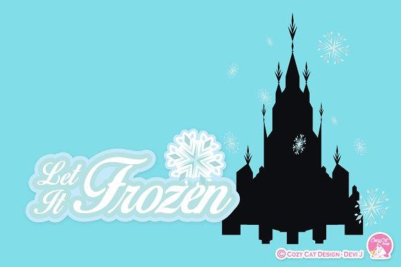Digital Clipart Let It Frozen