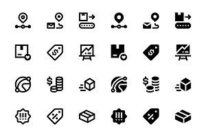 40 E-commerce Icons