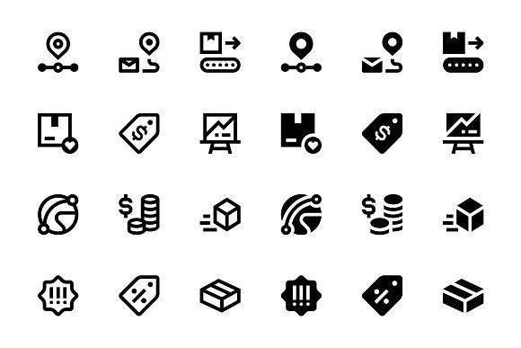 40 E-commerce Icons