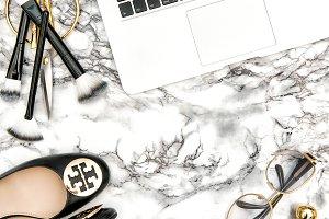 Fashion flat lay social media