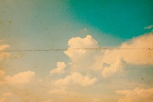 Old retro blue sky