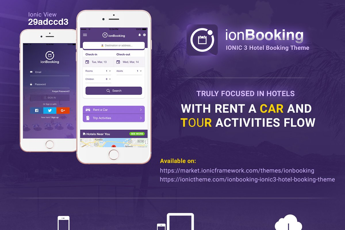 Ionic 3 Hotel Booking Theme ~ HTML/CSS Themes ~ Creative Market