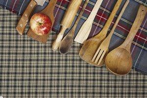 wooden spoons, cookware