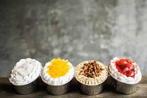 cupcake on wood