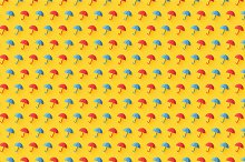 Seamless pattern with umbrella