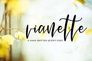 Vianette Hand Made Script Font