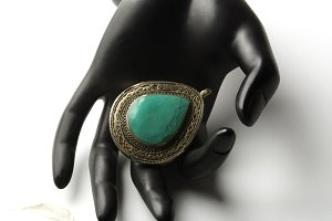 vintage said with turquoise stone