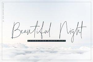 Beautiful Night Script Font