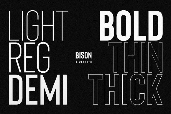 Bison Powerful Sans Serif
