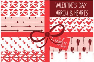 Valentine Arrow & Heart Patterns