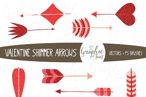 Shimmer Arrows - Valentine Palette