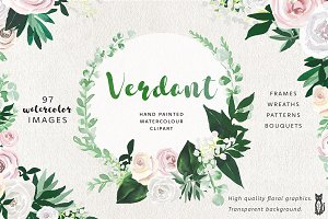 Verdant Flower Graphic Set