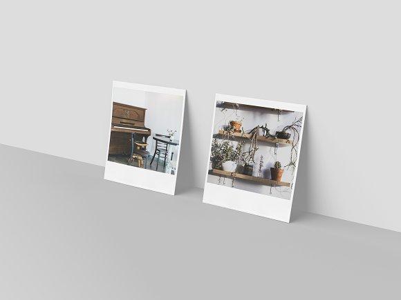 Realistic Polaroid Mockup
