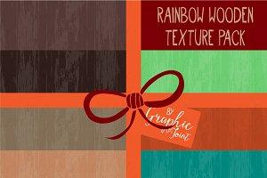 Rainbow Wood Textures