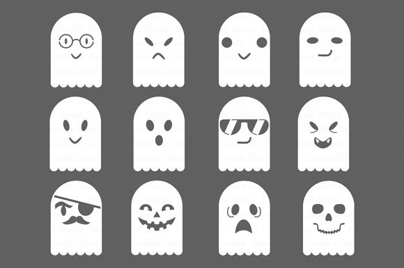 Ghosts SVG Files For Silhouette Came