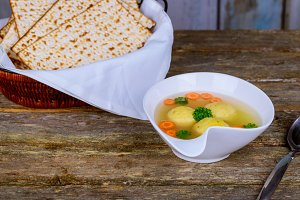 Traditional Jewish passover soup