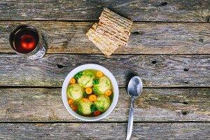 Matzo Matzah balls soup Passover