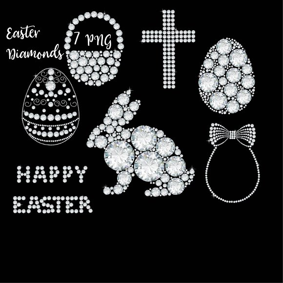 Easter Diamond Clipart
