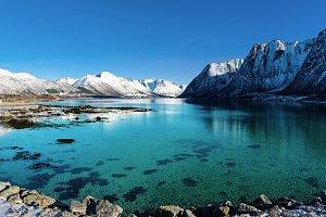 Winter Norway lake