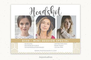 Headshot Marketing Template
