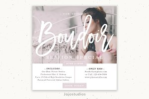 Boudoir Marketing Template for Photo