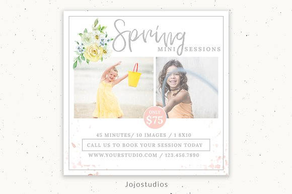 Spring Mini Session Marketing  in Flyer Templates