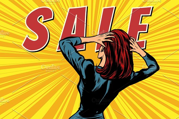 Woman Back Sale