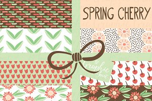 Spring Cherry & Flower Patterns