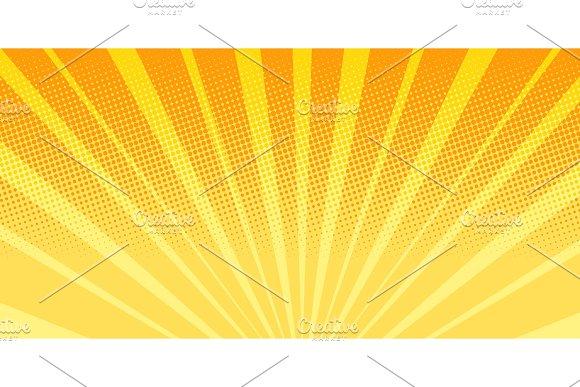 orange rays sunrise abstract background