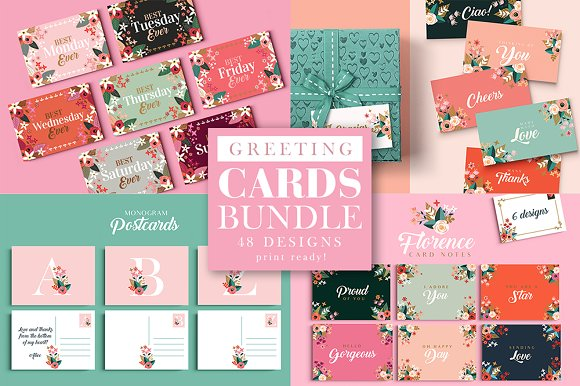 Greeting Cards Bundle 48 Designs