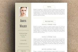 The Amaya Resume Pack