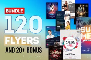 MEGA BUNDLE: 100+ Flyers Templates