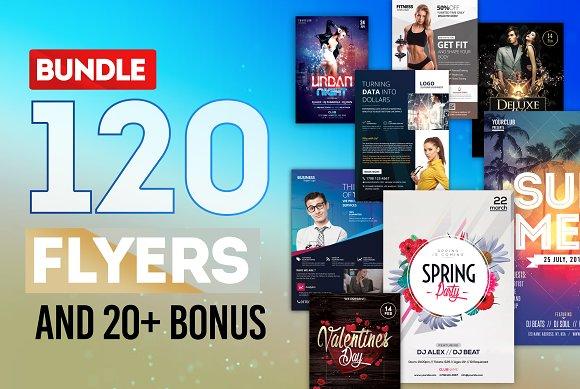 mega bundle 100 flyers templates flyer templates creative market