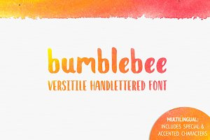 bumblebee - Handlettered Font