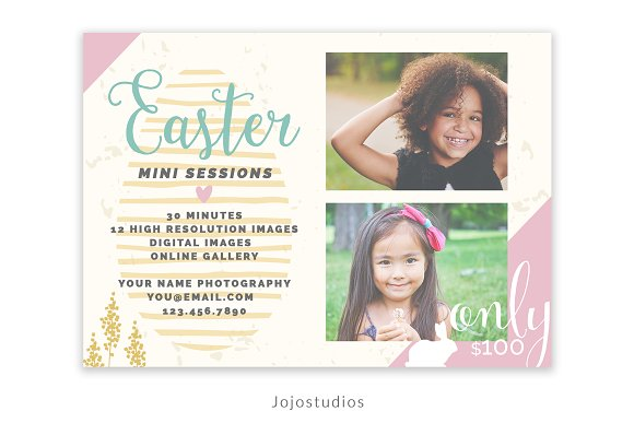Easter Mini Session Template