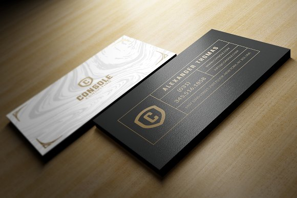 classy business card business card templates creative market - Classy Business Cards