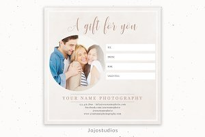 "5""x5"" Gift Certificate Template"