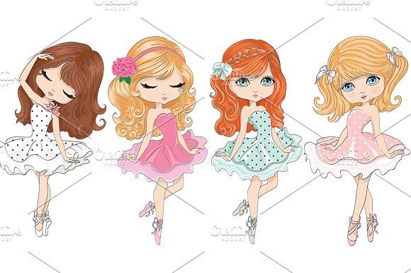 Ballerina Girls-Cute Girls Vector
