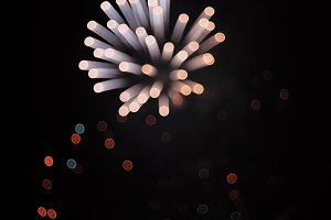 Defocused fireworks - Abstract background