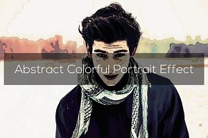Abstract Colorful Portrait Effect