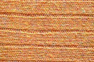 Wool pattern orange color