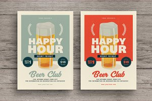Retro Happy Hour Beer Flyer