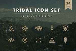 Tribal Icon Set - Native American
