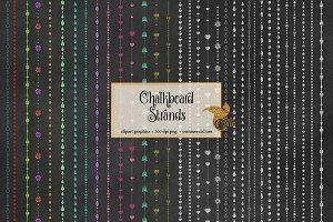 Chalkboard Strands Clipart