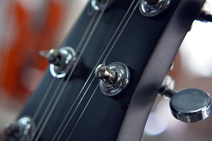 Guitar Strings Closeup