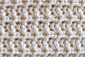 Wool textured ivory color