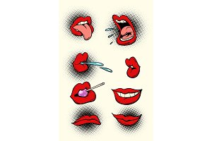 female lips set