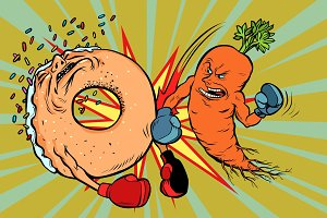 Carrots beats a donut