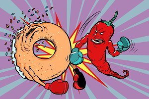 Red pepper beats a donut