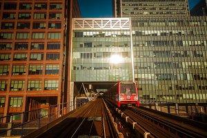 Wide angle shot of a DLR train